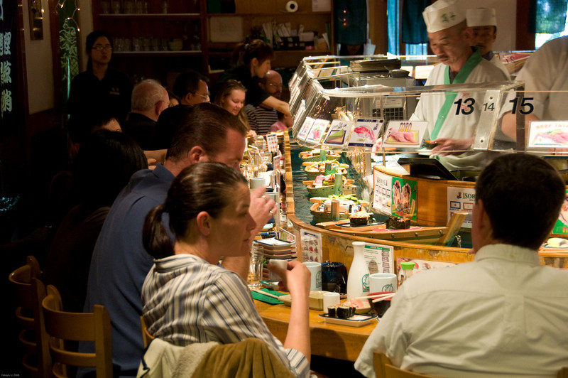 Sushi in JapanTown in October 2008