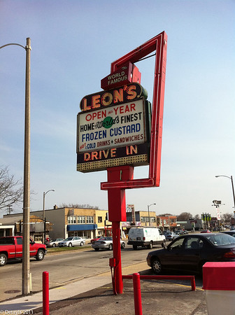 Leon's Custard in Milwaukee in April 2011